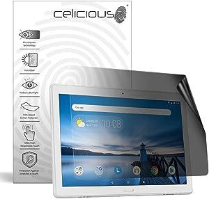 Celicious Privacy Lite 2-Way Anti-Glare Anti-Spy Filter Screen Protector Film Compatible with Lenovo Tab P10