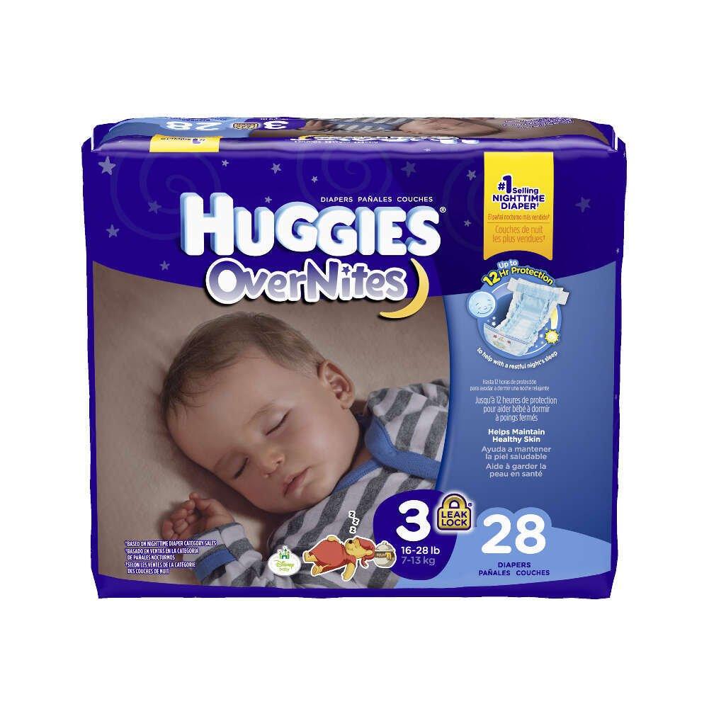 Kimberly-Clark 40682 Huggies Overnite, Size 3, 16-28 lbs. (Pack of 112)