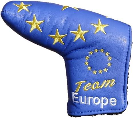Equipo Europa Edición limitada azul hoja Europea funda para Putter