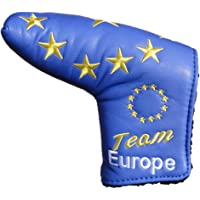 Team Europe Limited Edition Blue Blade European Golf Putter Cover ideal for Ping Anser or Scotty Cameron Blade
