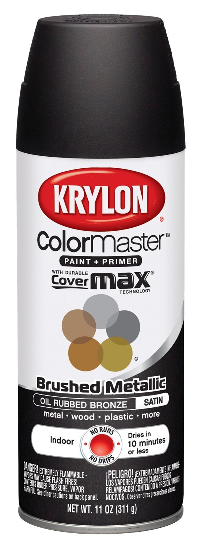 Krylon K05125400 Brushed Metallic Aerosol Spray Paint, 11-Ounce, Oil Rubbed Bronze
