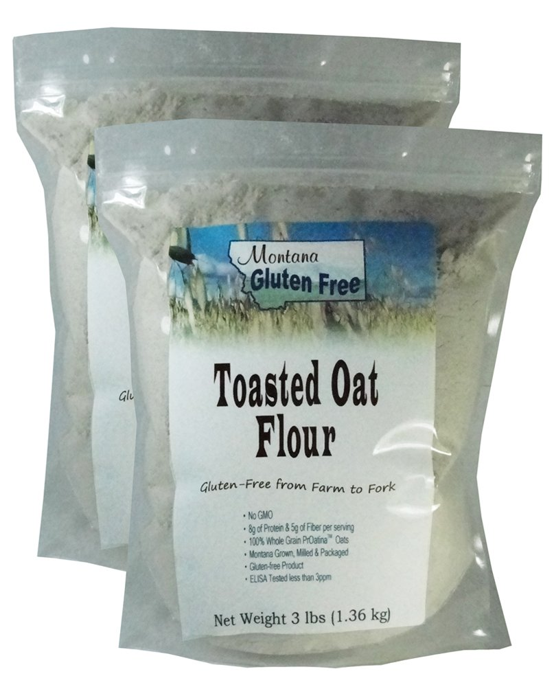 Gluten Free Toasted Oat Flour - 2 Pack of 3 Pound Bags