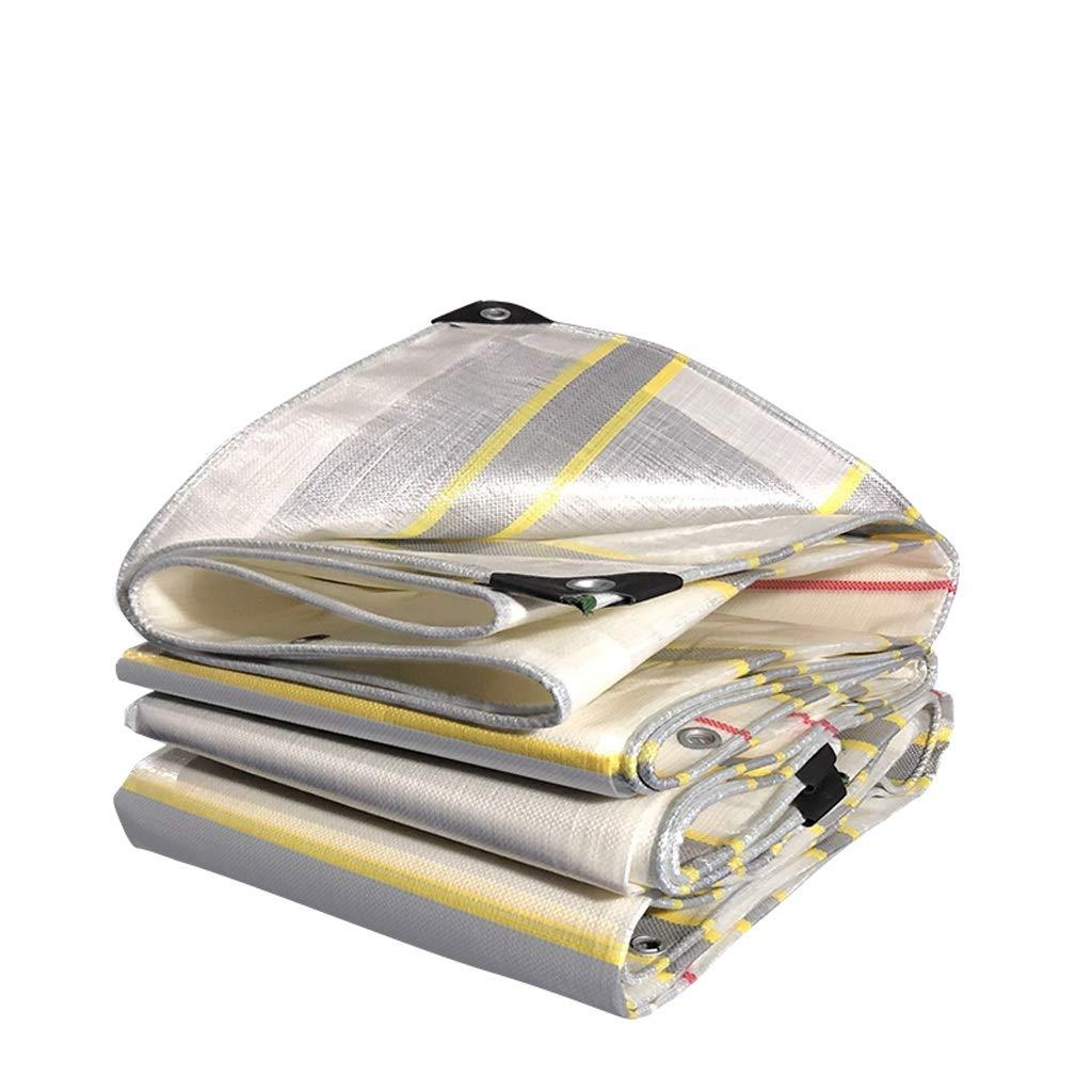 XY&CF-tarpaulin Farbstreifen wasserdichtes Tuch wasserdicht Sonnencreme Plane Regenschirm Plane Leinwand Baldachin, Verschiedene Größen 210G   M²