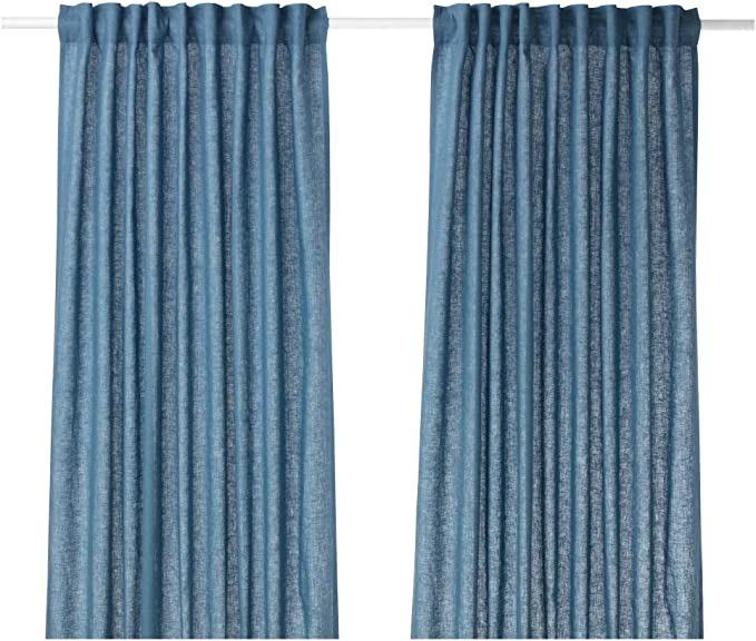 IKEA ASIA AINA - Cortinas (1 par), Color Azul: Amazon.es: Hogar