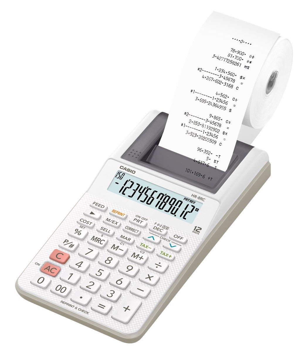 カシオ プリンター電卓 HR-8RC-WE