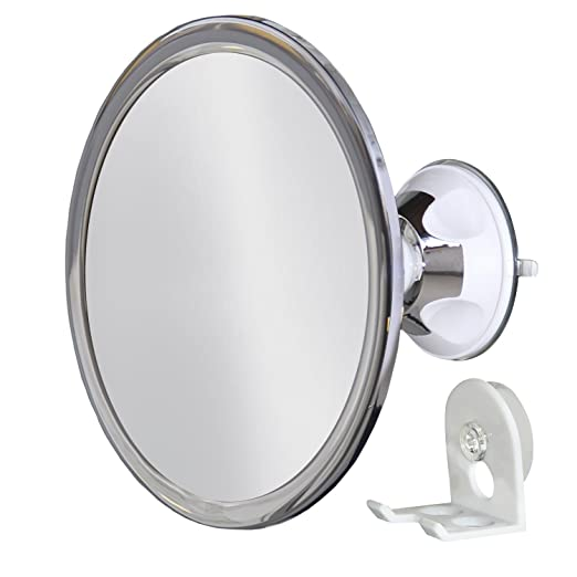 No Fog Shower Mirror with Rotating, Locking Suction; Bonus Separate Razor Holder | Next Step in Shaving Mirror Technology | Adjustable Arm for Easy Positioning | Best Personal Mirror for Shaving You Will Ever Buy! Ideal Travel Mirror