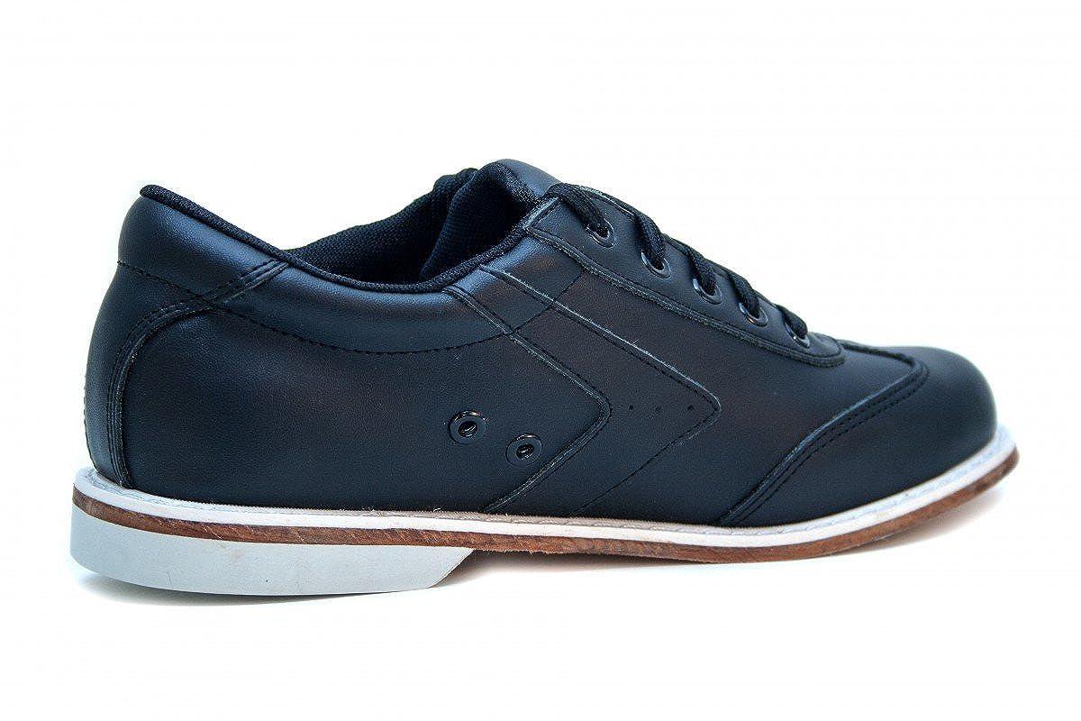 493834fbcb345 Bowlio Nero - Chaussures de Bowling en Cuir Noir - Adulte et Enfant