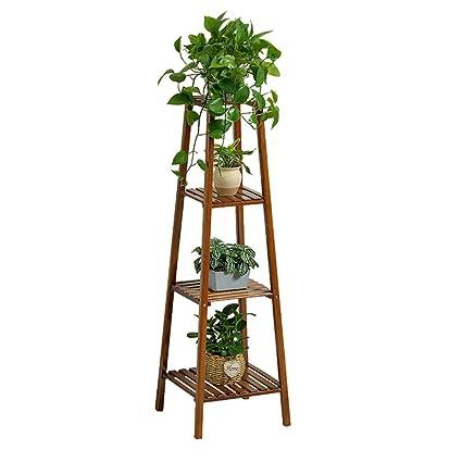 4 Tier Flower Racks Bamboo Flower Shelf Corner Shelves Garden Plant Display  For Plant Pots Holder