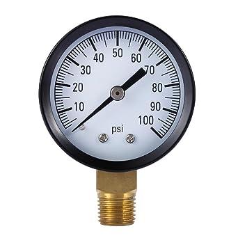 demiawaking 0 – 100 PSI Mini Compresor de aire Dial Medidor hidráulico medidor de presión