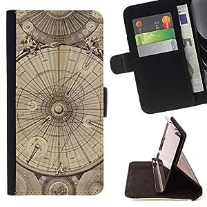 Ingeniería Dibujo Pergamino- Modelo colorido cuero de la carpeta del tirón del caso cubierta piel Holster Funda protecció Para Apple iPhone 5 / iPhone 5S