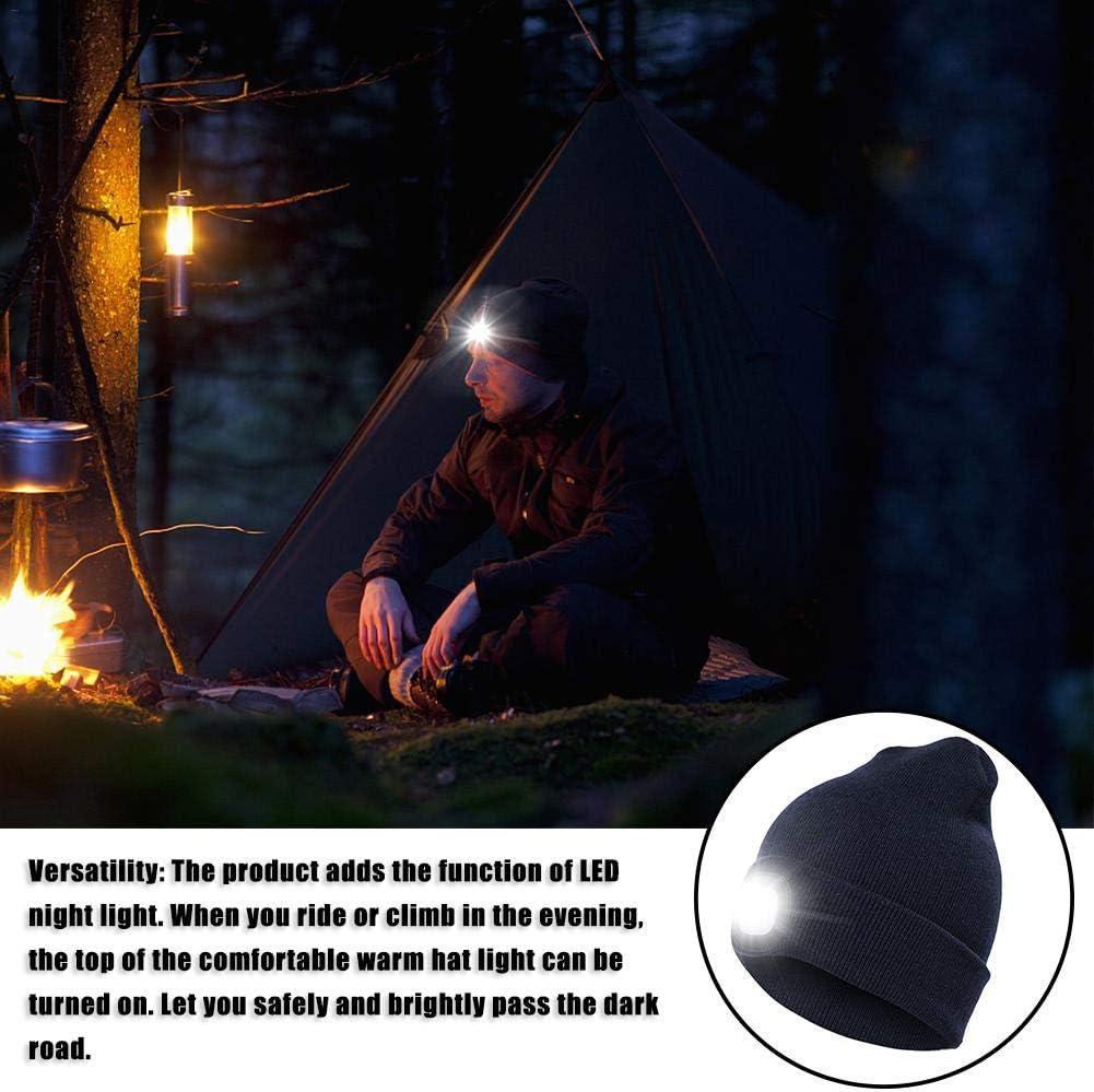 Berretto a Cappello Invernale a Maglia Caldo grigliate LeKing LED Berretto con Visiera Unisex Berretto Invernale Caldo per Caccia Campeggio