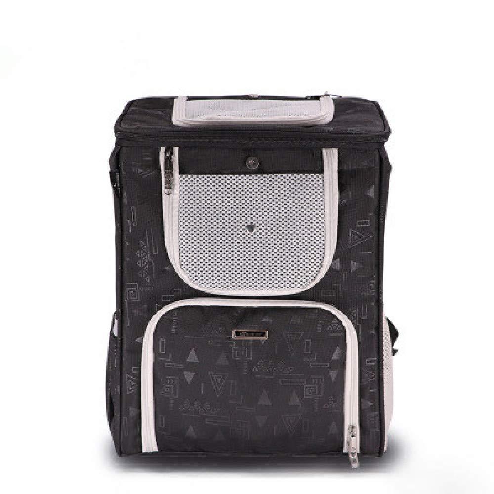 Black 42 *33 *28cm Black 42 *33 *28cm LDOG Pet Backpack Hands -Free Shoulder Travel Bag Comfortable Brah Carrier Bag per cani