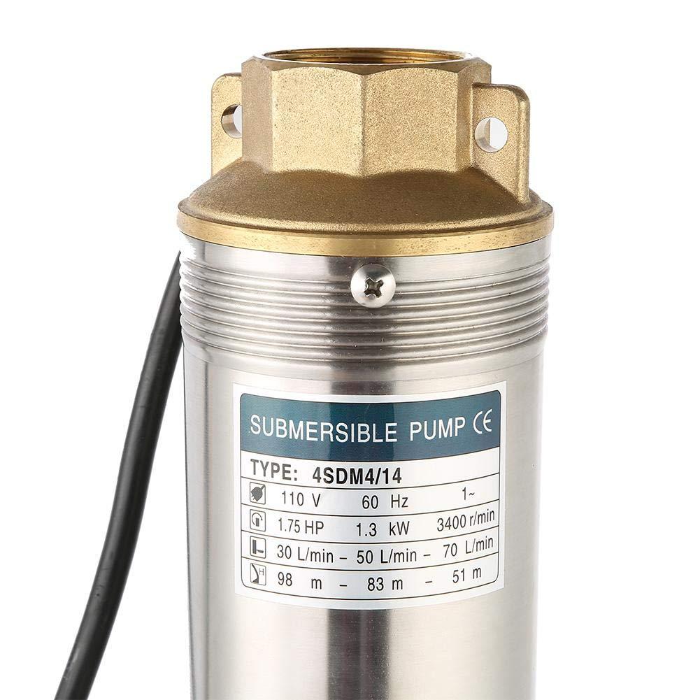 【New Years Gift】Deep Well Pump,750W Well Submersible Well Submersible Pump 4000L//h Submersible Pump 110V US Plug