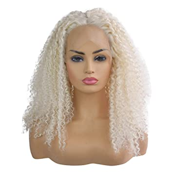 Amazon.com   VonVonCo Curly Wig Full Lace Wigs Black Women Indian Remy  Human Hair Lace Front (22 inches 42fb462265