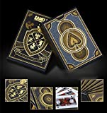 2x Poker Cards Luxury Gilt Golden HERALDRY Plastic Playing Cards 8863mm - Italy Poker Cards Set Playing Cards Pokerstars Collection Black Diamond Poker Cards