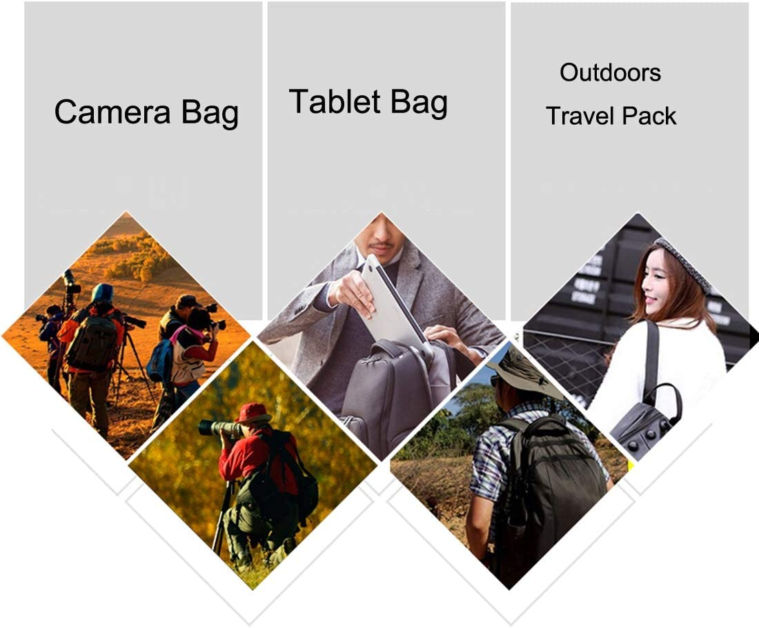 for SJCAM,for Nikon for Canon, Portable Waterproof Scratch-proof Polyester Surface Material 15.6 inch Laptop Notebook Computer Bag Backpack Shoulder Bag Outdoor Sports Camera Bag Phone Bag for GoPro