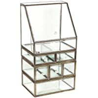 Beautiful and practical BeautyStorage Spacious Makeup Organizer Glass Drawers Set Stunning Jewelry Cube Countertop…