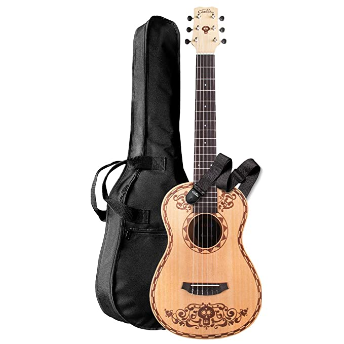 Cordoba Guitars Coco Mini SP/MH W/B - Mini classical guitar: Amazon.es: Instrumentos musicales