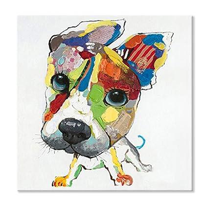 979ddceb42b8 Amazon.com  SEVEN WALL ARTS - 100% Hand Painted Abstract Animal Cute ...