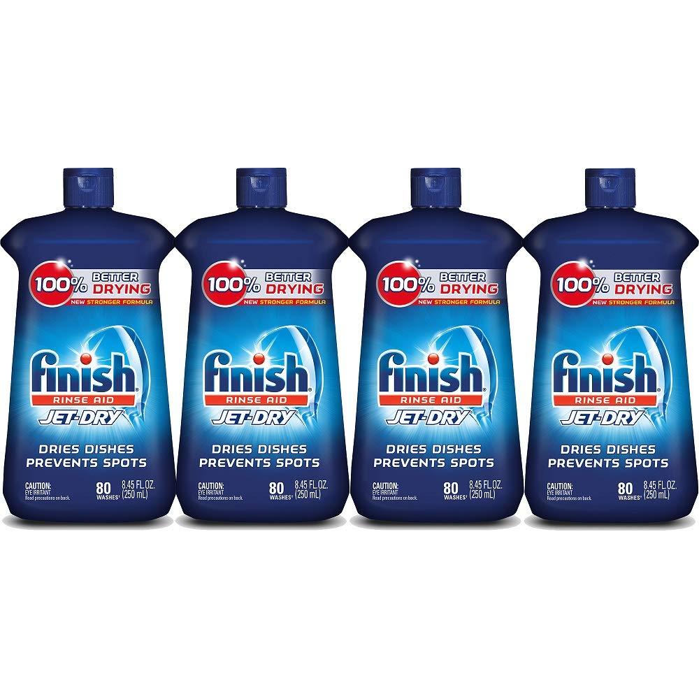 Finish Jet-Dry Rinse Aid, 8.45oz, Dishwasher Rinse Agent & Drying Agent (4X8.45oz)