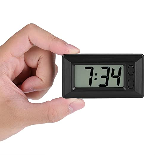 Amazon.com: Fdit LCD Digital Table Car Dashboard Desk Electronic Clock Date Time Calendar Display: Home & Kitchen