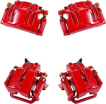 4 REAR CK01110 FRONT Premium Grade Semi-Loaded OE Caliper Assembly Set Kit