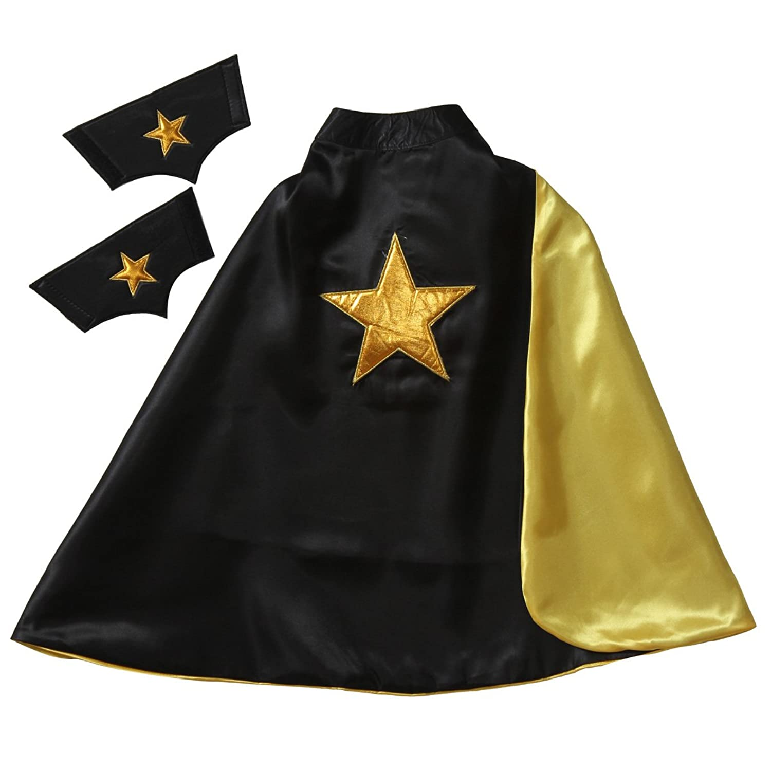 Amazon.com Making Believe Reversible Black u0026 Gold 24  Star Cape u0026 Cuffs Toys u0026 Games  sc 1 st  Amazon.com : making a star costume  - Germanpascual.Com