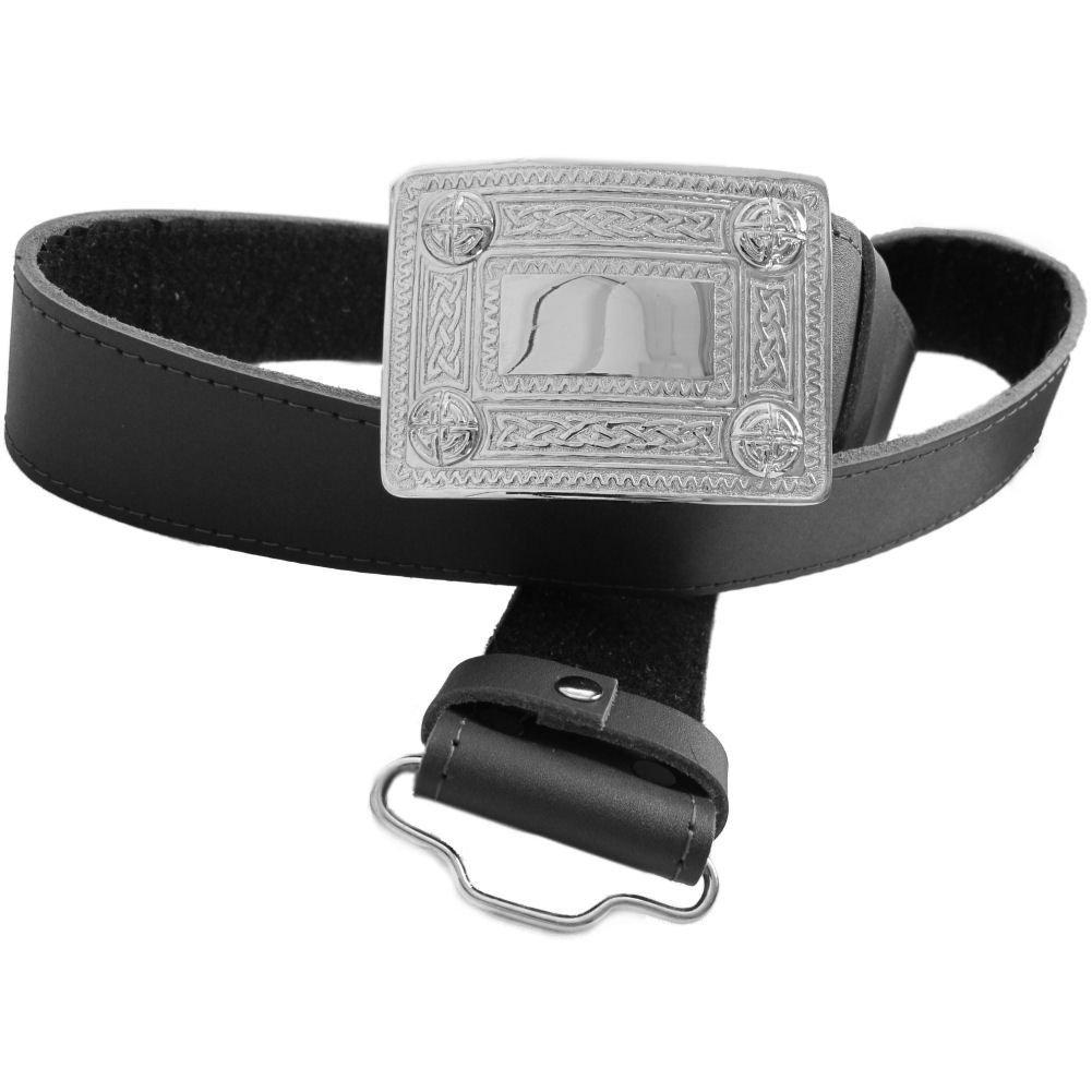 Tartanista 68cm - 91cm M Cintur/ón para kilt escoc/és con hebilla para hombre Negro