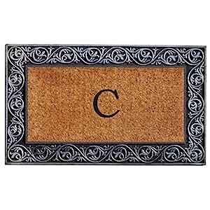 Home & More 10002SILVC Prestige Silver Monogram Doormat(Letter C)