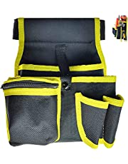 lfhZD Electrician Tool Belt, 5-Pocket 600D Polyester Electrician Tool Pouch with Adjustable Belt, for Electricians, Carpenters, Builders, Handyman
