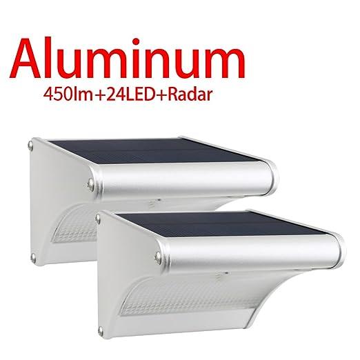 90 opinioni per Licwshi Luci solari 450 Lumens esterna impermeabile lega di alluminio Housing,