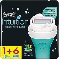 Wilkinson Sword Intuition Sensitive Care scheerapparaat voor dames met 6 reservemesjes.