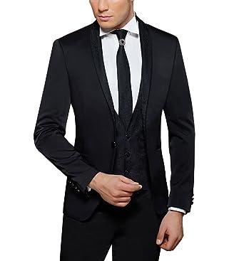 MUGA Traje de boda - Hombre negro 52: Amazon.es: Ropa y ...