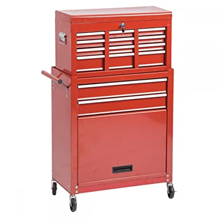 Portable Tool Chest Rolling Toolbox Storage Cabinet Sliding Drawers