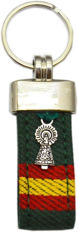 Llavero Virgen del Pilar Verde ESPAÑA 9 CM: Amazon.es: Equipaje