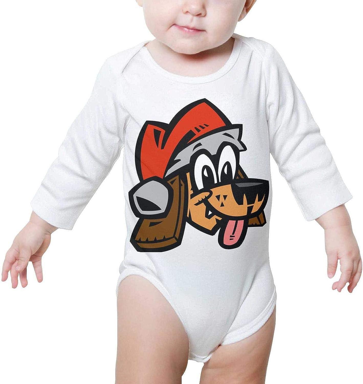 Cartoon Dog Santa hat Christmas Long Sleeve Neutral Baby Onesies Romper Set for Unisex Boys Girls
