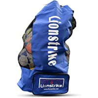 Lionstrike Saco para guardar pelotas de fútbol, con bolsillo lateral – Alta calidad