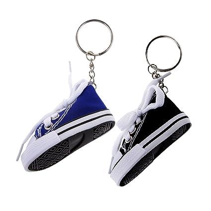 Homyl 2 Unids Cadena de Colgante de Zapatos de Lona de Moda ...