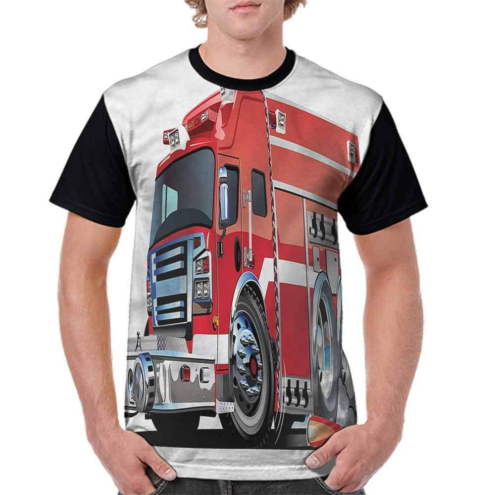 Classic T-Shirt,Fire Truck Rescue Team Fashion Personality Customization
