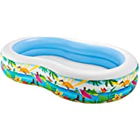"""Intex Swim Center Paradise Inflatable Pool, 103"""" X 63"""" X 18"""", for Ages 3+"""
