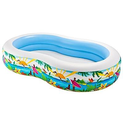 IIntex Swim Center Paradise Inflatable Pool, 103 X 63 X 18