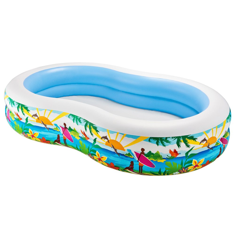 Intex Swim Center Paradise Inflatable Pool, 103'' X 63'' X 18'', for Ages 3+