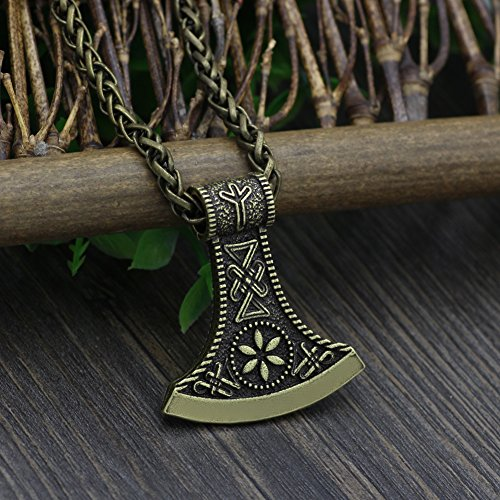 vikings axe pendant sided products s single of necklace heart handler viking battle easy