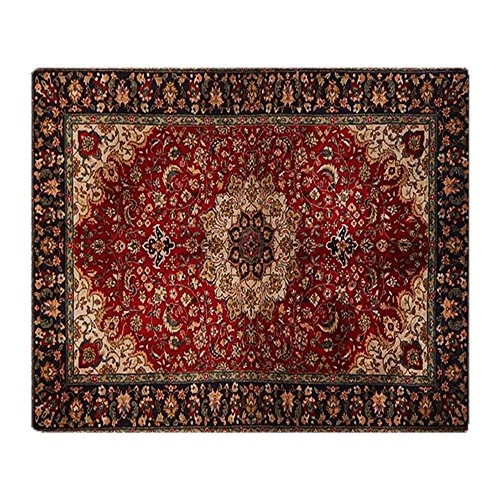 (CafePress Persian Rug Red and Gold Soft Fleece Throw Blanket, 50