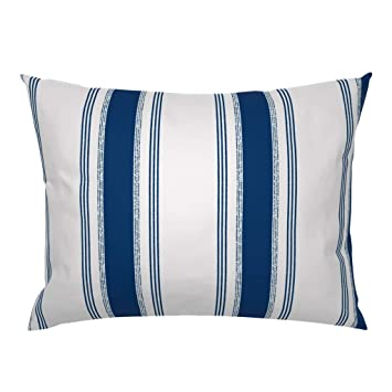 Amazon.com: Tic-Tac rayas decoración tapicería azul marino ...