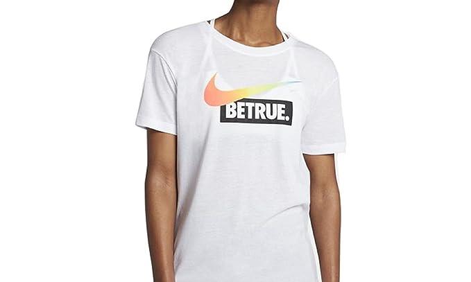 04fe2c00 Nike Sportswear BETRUE Women's LGBT Gay Pride T-Shirt - White ...