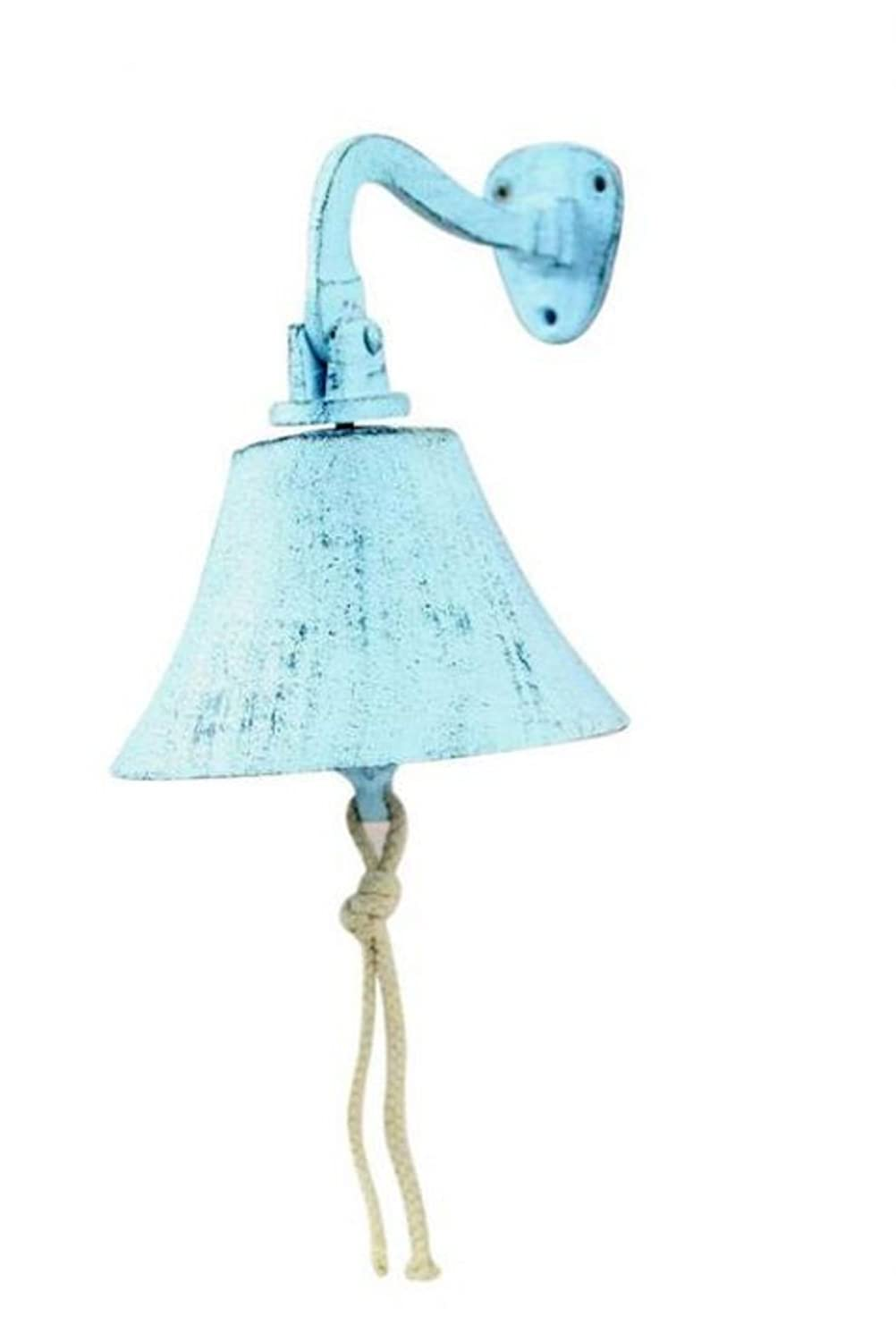 Captains Bell Rustic Black Cast Iron Hanging Ships Bell 6 Inch Rustic Wall Art