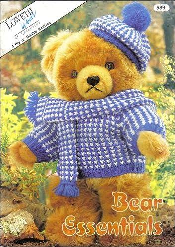Loveth Bear Essentials Knitting Pattern Booklet Sweater Hat Scarf