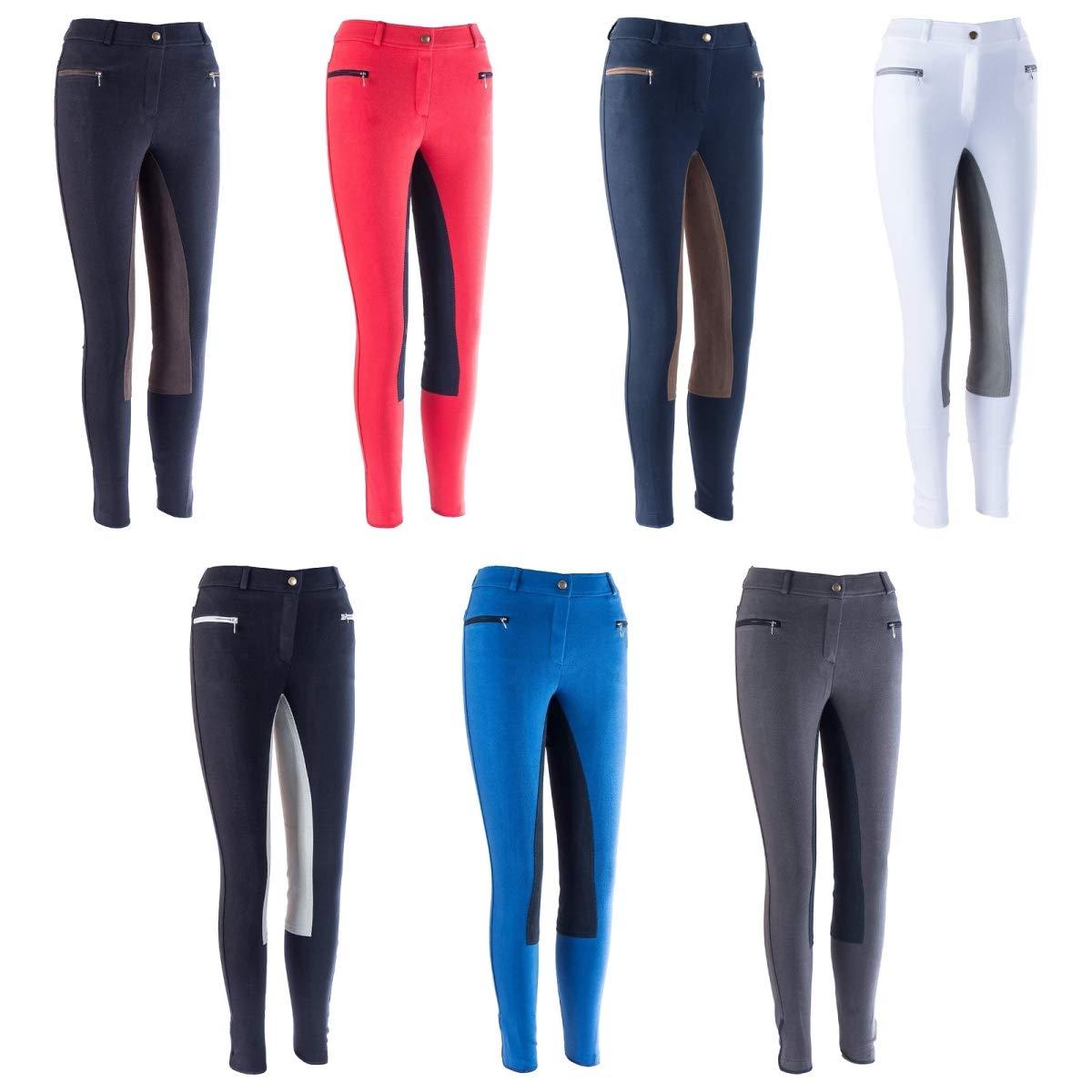 HKM by Reiterladen24,pantaloni da equitazione, da donna, linea di base con inserti