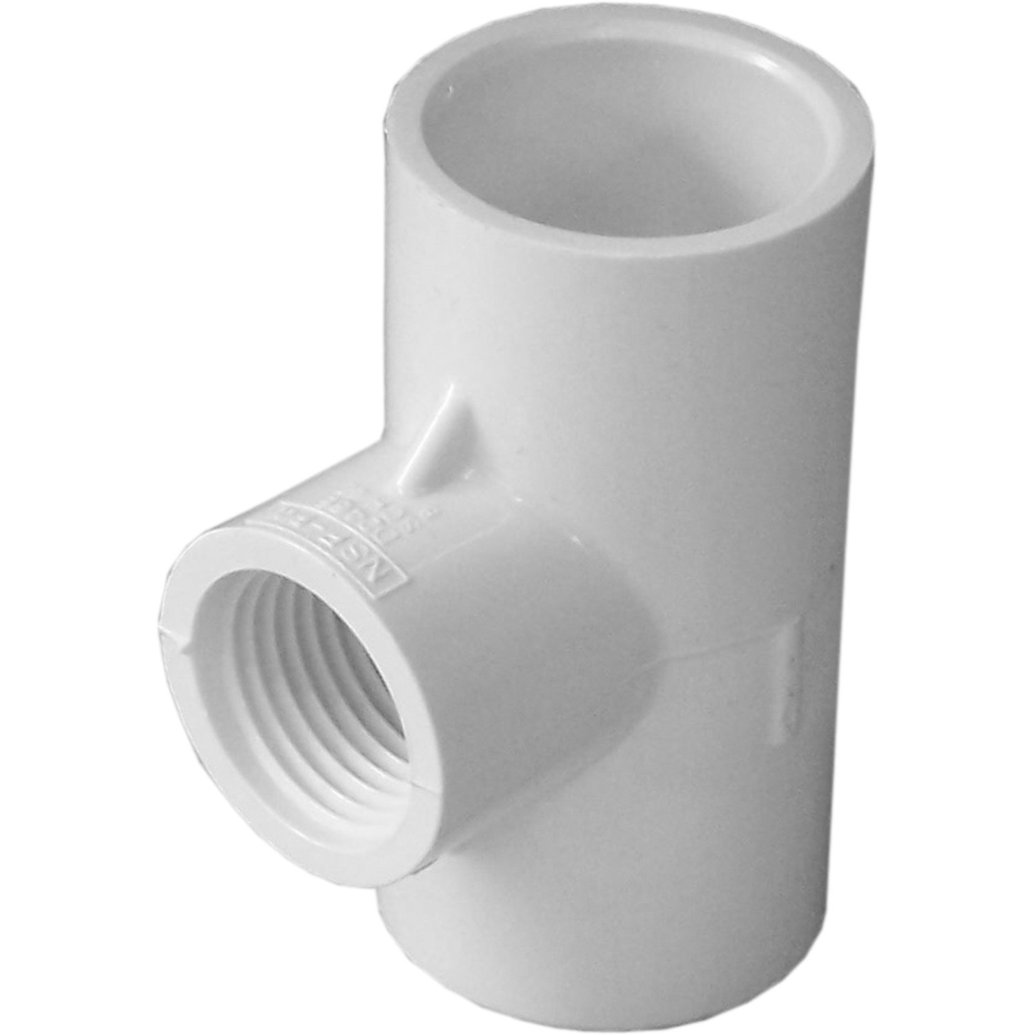 Genova Products 31481CP 3/4-Inch by 1/2-Inch Female Iron Pipe Thread Reducing PVC Pipe Tee - 10 Pack